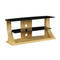 1100mm TV Stand Curved Design Oak