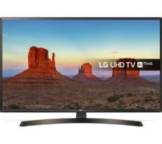 "50"" LG 50UK6470PLC Smart 4K Ultra HD HDR LED TV, Gold"