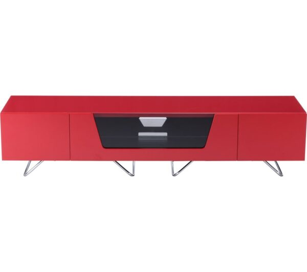 ALPHASON Chromium 2 1600 TV Stand - Red, Red