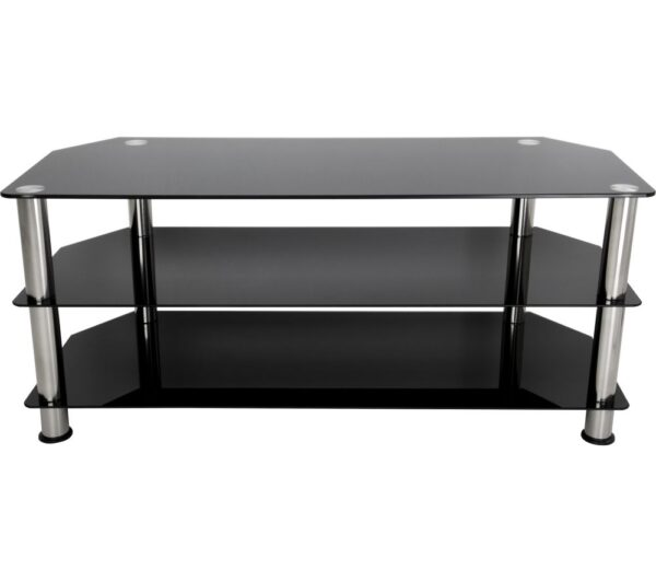 AVF SDC1140 TV Stand - Black & Chrome, Black