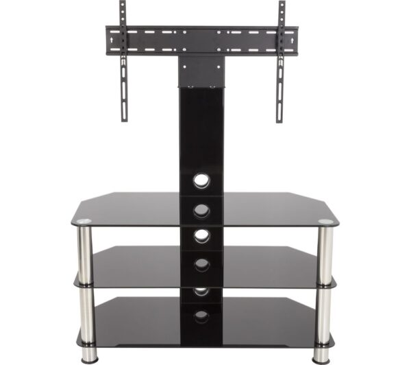 AVF SDCL900 900 mm TV Stand with Bracket - Black & Chrome, Black