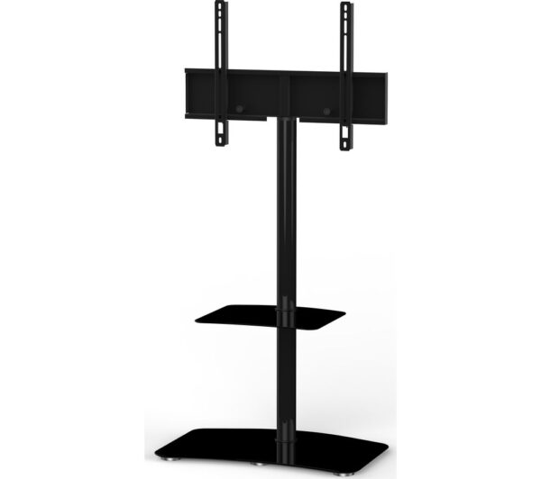 SONOROUS Tall Contemporary PL2810-BLK 650 mm TV Stand with Bracket - Black, Black