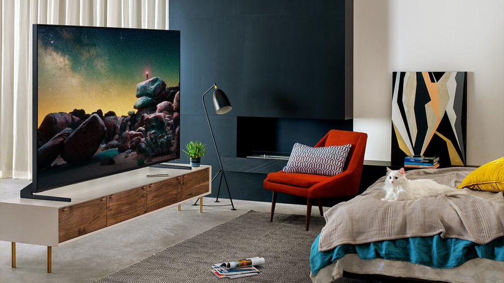What is 8K TV content going to look like? A picture of a Samsung QLED 8K TV