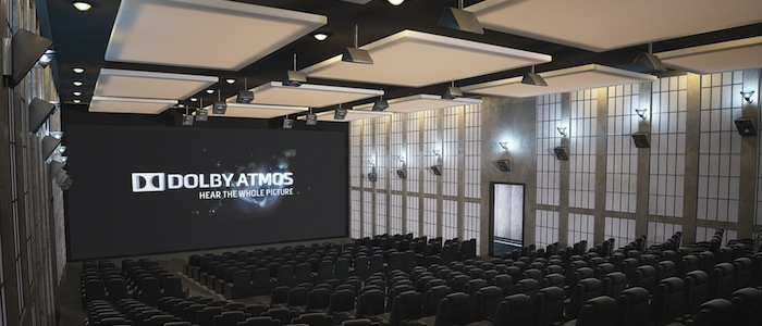 A photograph of a cinema equipped with Dolby Atmos