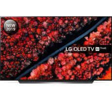 "55"" LG OLED55C9MLB Smart 4K Ultra HD HDR OLED TV with Google Assistant, Black"