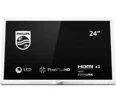 "24"" PHILIPS 24PHT4354/05 HD Ready LED TV - White, White"