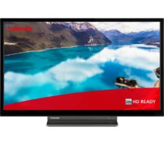 """24"""" TOSHIBA 24WD3A63DB Smart HD Ready LED TV with Built-in DVD Player"""