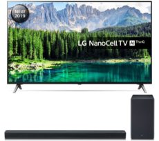 "55"" LG 55SM8500PLA Smart 4K Ultra HD HDR LED TV & SK8 2.1 Wireless Soundbar Bundle"